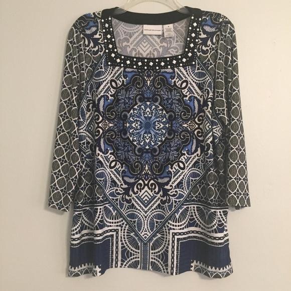 8f31b9e653c474 Alfred dunner tops sleeve embellished wrinkle free poshmark jpg 580x580 Dunner  tops alfred dresses